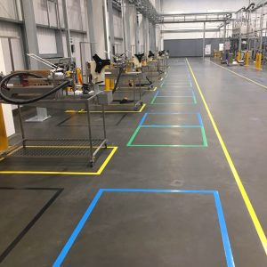 Floor marking - coloured tape 1