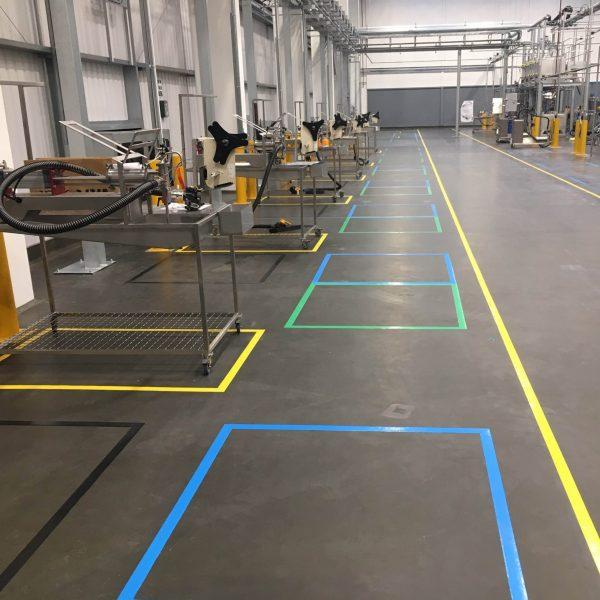Floor marking - coloured tape 1