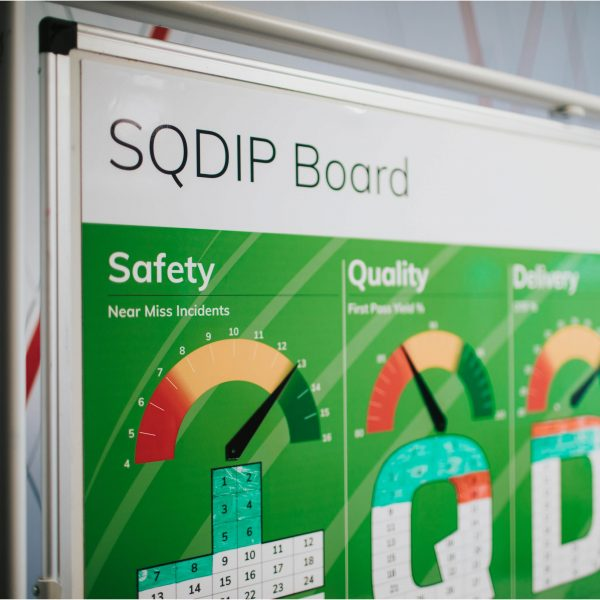 Visual management sqdip overlay board