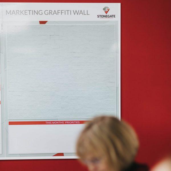 Marketing graffiti board