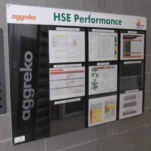 Aggreko HSE performance board
