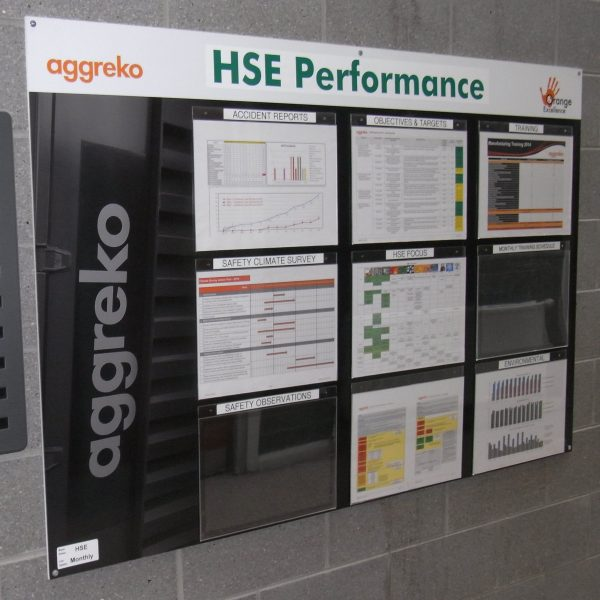 Aggreko HSE performance board