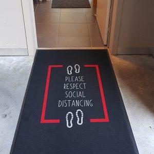 Floor mat for social distancing 2