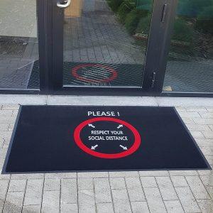 Floor mat for social distancing