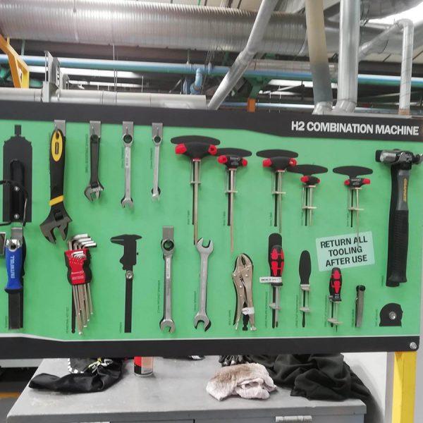 Green shadow tool board