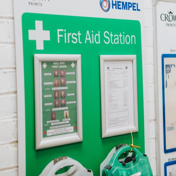VM board - first aid station