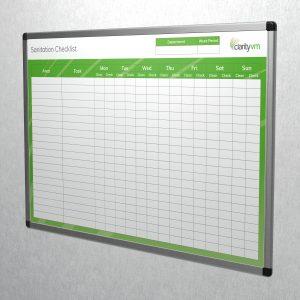 sanitation checklist SL 3D