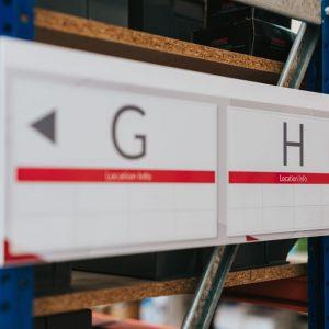 Alphabetized Row Signs (d)