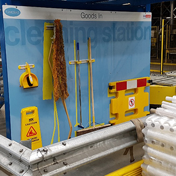 Home Bargains - TJ Morris - Cleaning Station - 5S Cleaning Station - Clarity Visual Management