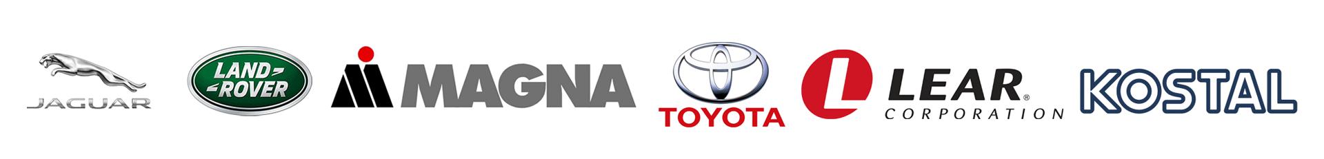 Jaguar, Land Rover, Magna, Toytoa, Lear & Kostal