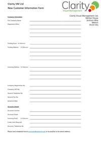 New Customer Information Form