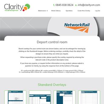 Clarity Visual Management Network Rail Portal