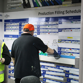 Clarity Visual Management Crown Paints Production Board