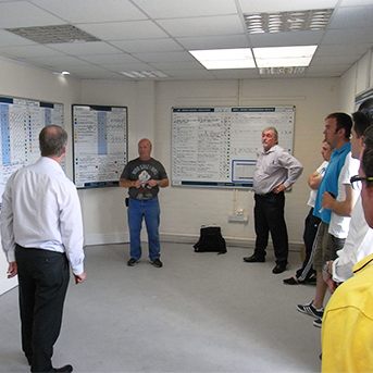 Network Rail Team Meeting - Visual Management Control Room - Clarity Visual Management