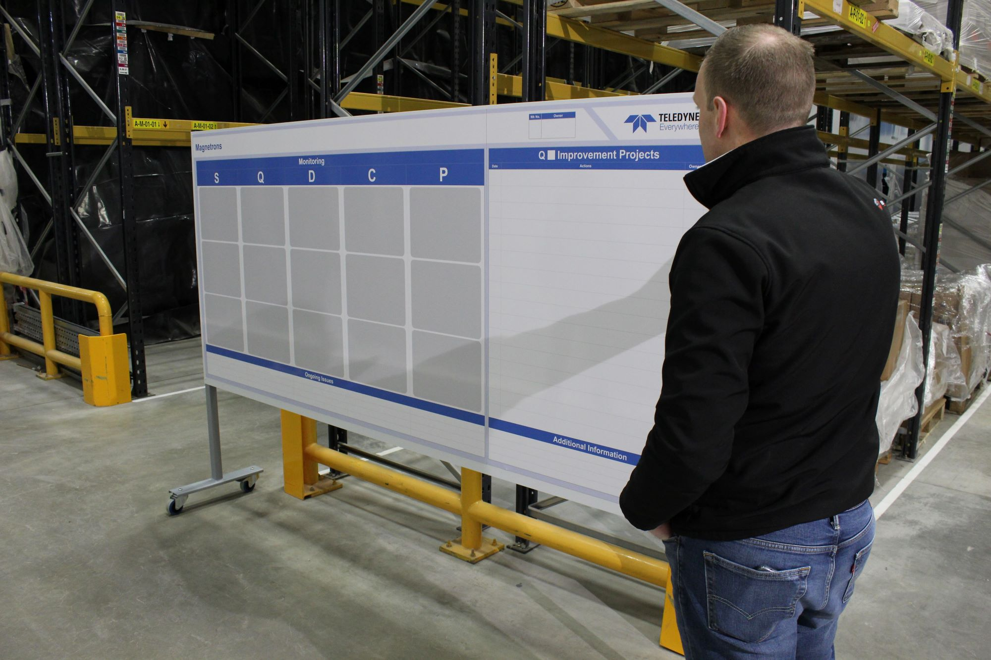 Heavy Duty Bespoke Whiteboard
